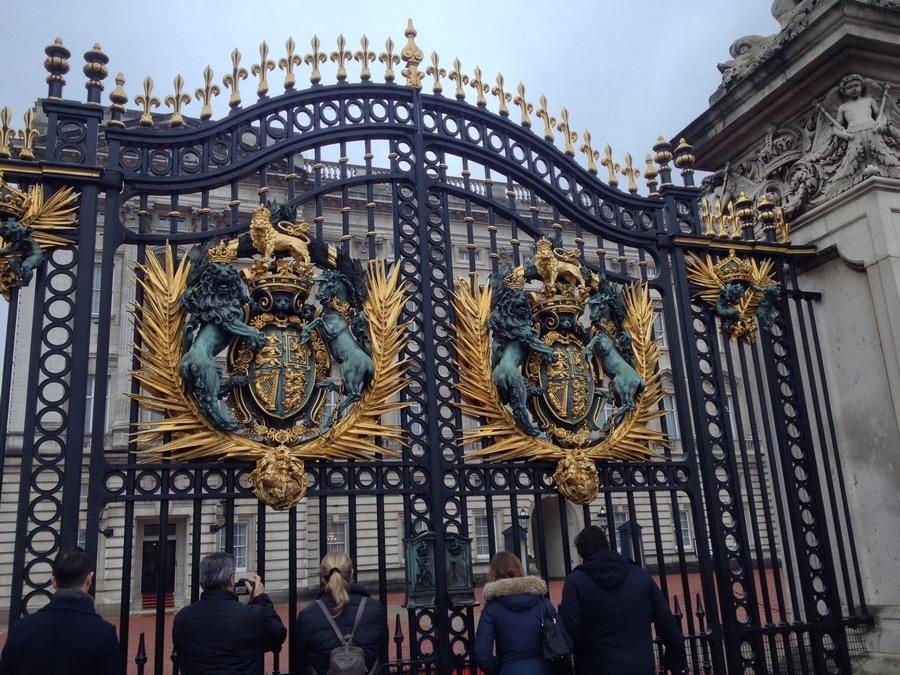 Buckingham Palace grids - London, England