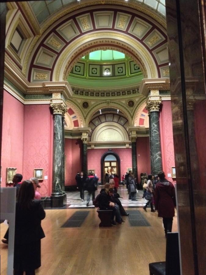 Une pièce à la National Gallery - Londres, Angleterre