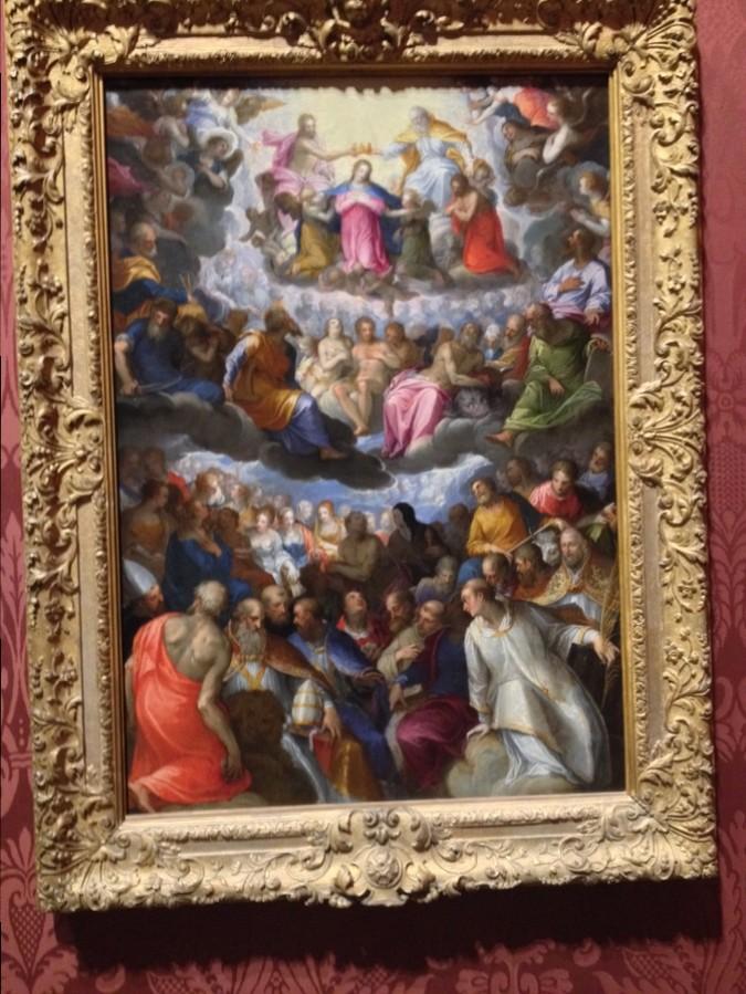 """""""Le couronnement de la Vierge"""" de Johann Rottenhammer - National Gallery, Londres, Angleterre"""