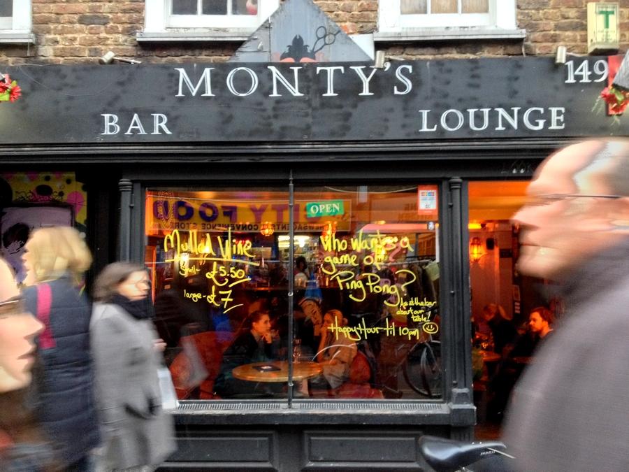 Monty's bar - London, England