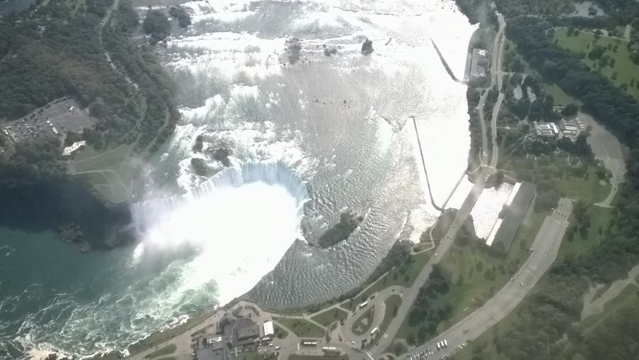 Aerial view of the Niagara Falls - Canada