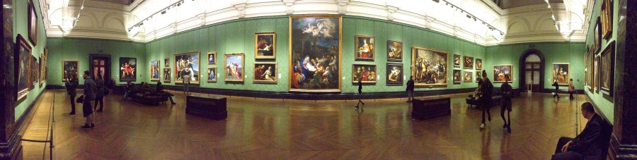 National Gallery panorama - London, England