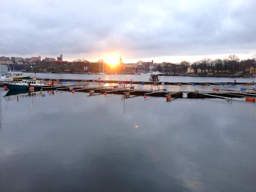 Sunset from Djurgarden island - Stockholm, Sweden