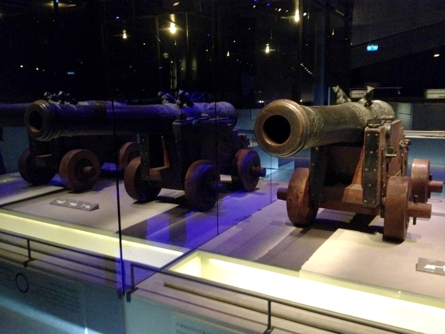 An authentic canon at the Vasa Museum - Stockholm, Sweden