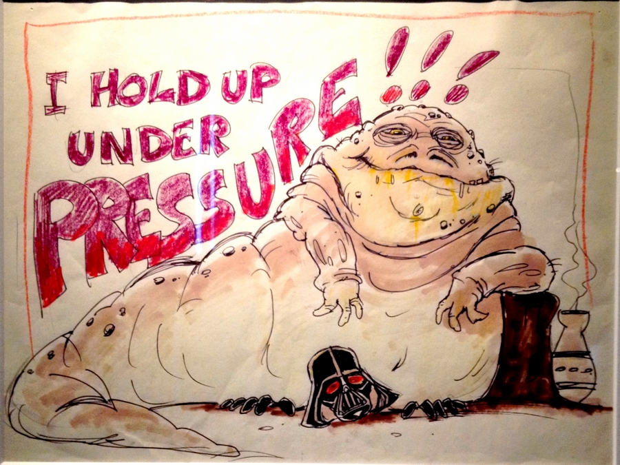 Dessin de Jabba - Star Wars Identities, Lyon, France