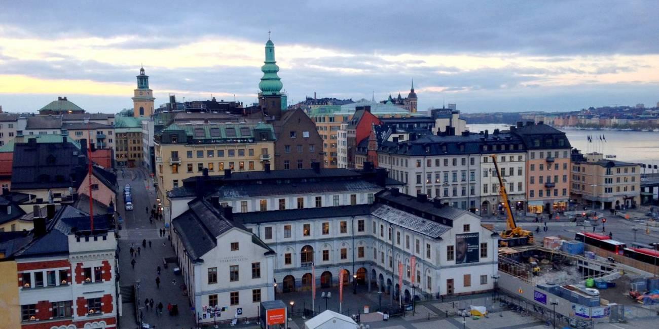 Vue sur Gamla Stan depuis le Katarinahissen - Stockholm, Suède