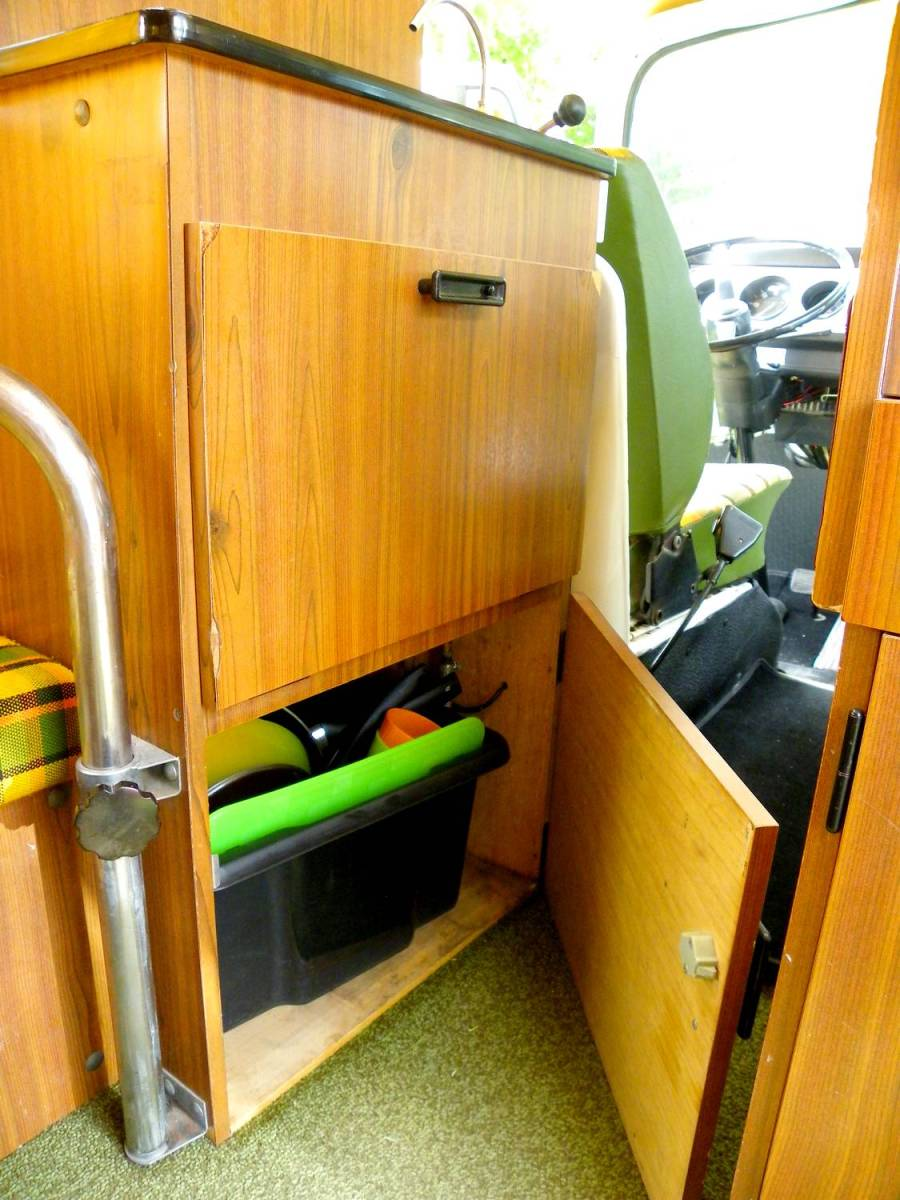 Inside the CevVan van