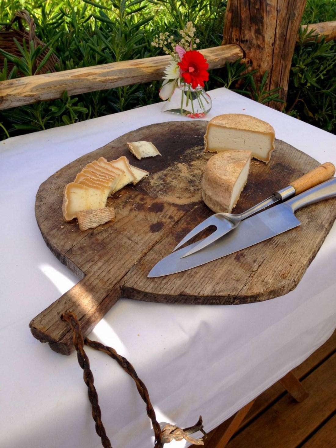 Ewe Corsican cheese at the Villa Guidi - Pila-Canale, Corsica, France