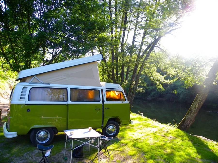 Scooby, le van de CevVan - Camping de la Salendrinque, France