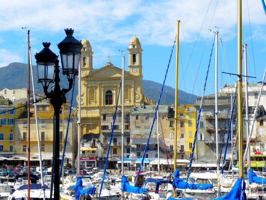 Saint Jean Baptiste church facade - Bastia, Corsica