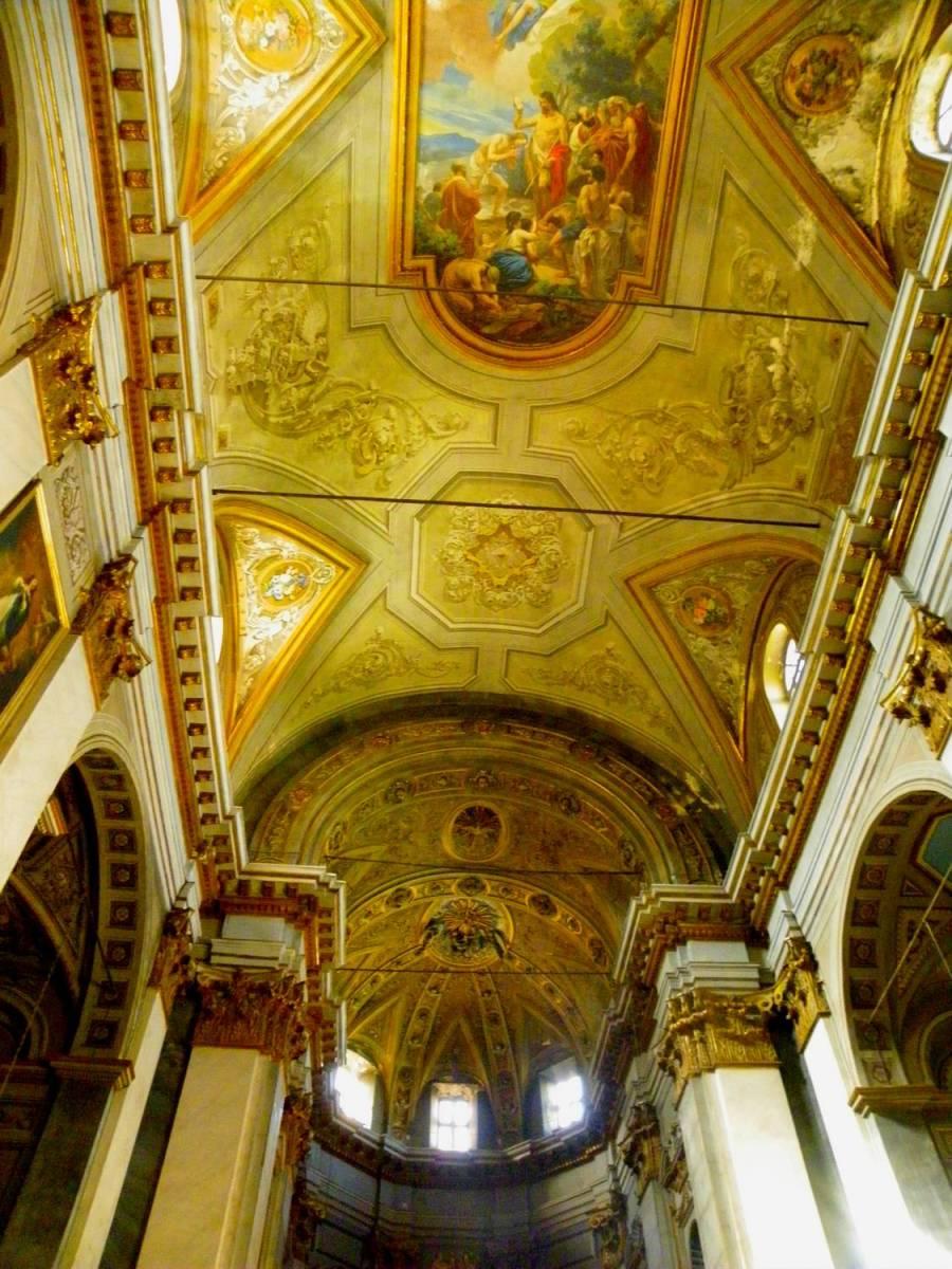 Saint Jean Baptiste church's ceiling - Bastia, Corsica