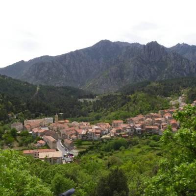 Ghisoni vue d'en haut - Ghisoni, Corse