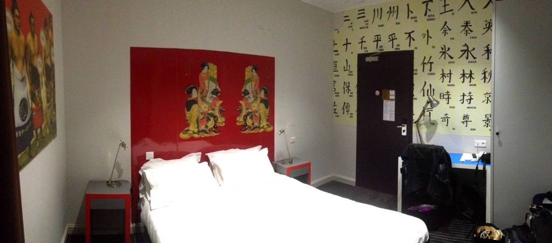 Our asian room at the les Voyageurs Hotel - Bastia, Corsica