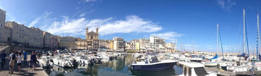 Panoramic view of the harbour - Bastia, Corsica