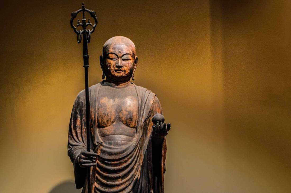 Ancient japanese buddha statue at the Metropolitan Museum of Art - New York, United States