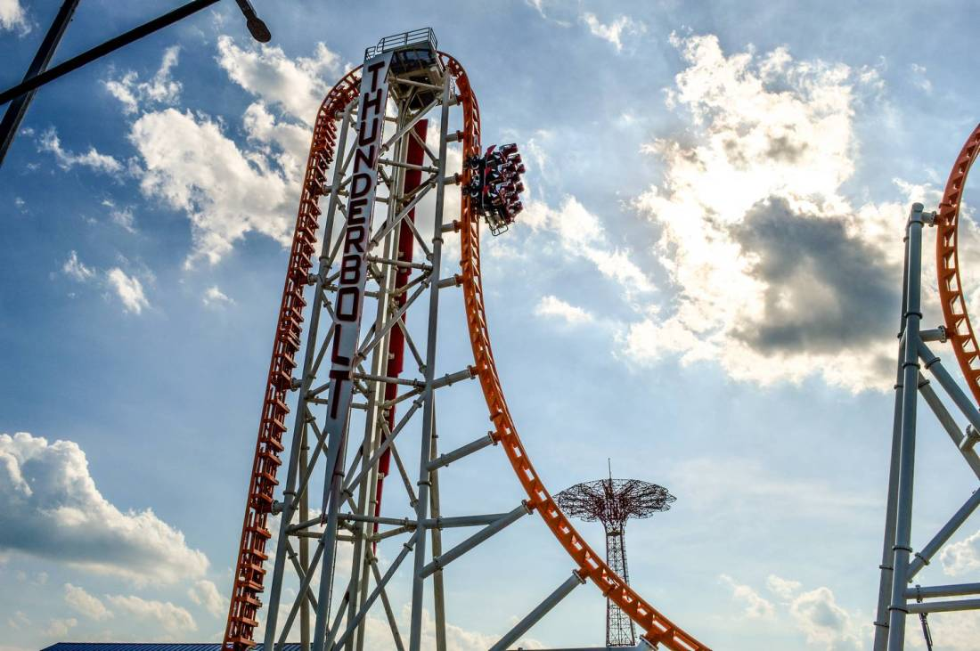 The Thunderbolt roller coaster in Coney Island - New York, United States