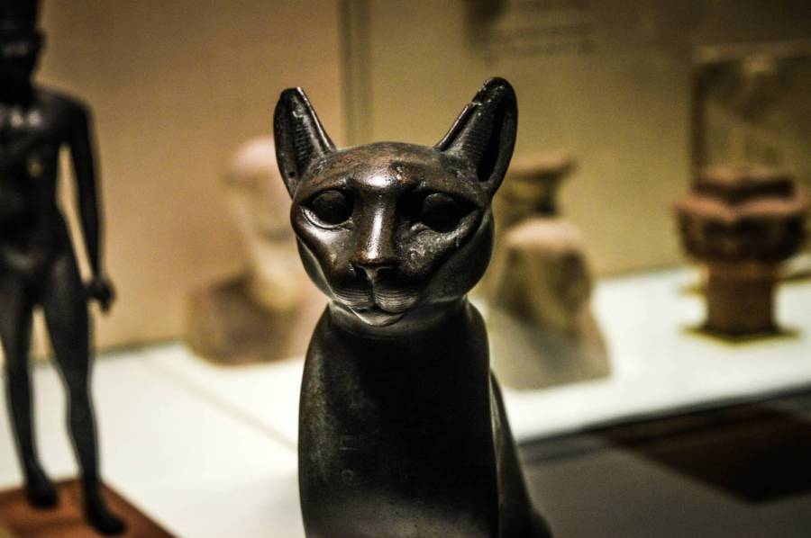 Antic Egyptian piece of art at the Metropolitan Museum of Art - New York, United States