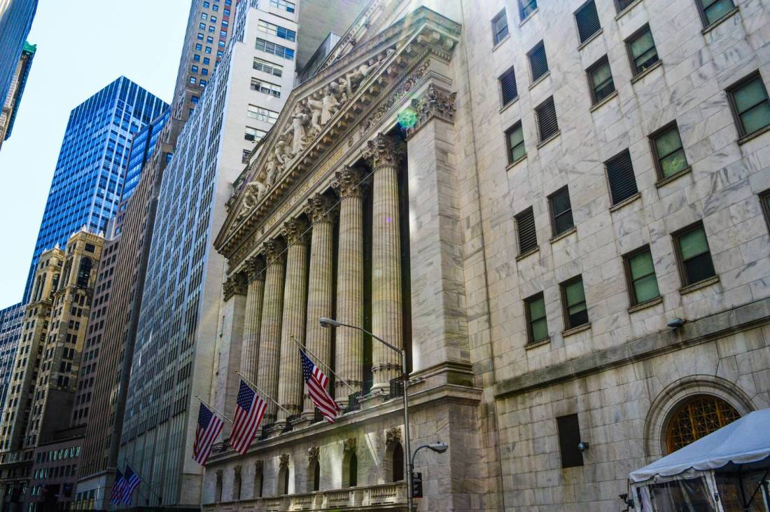The New York stock exchange - United States