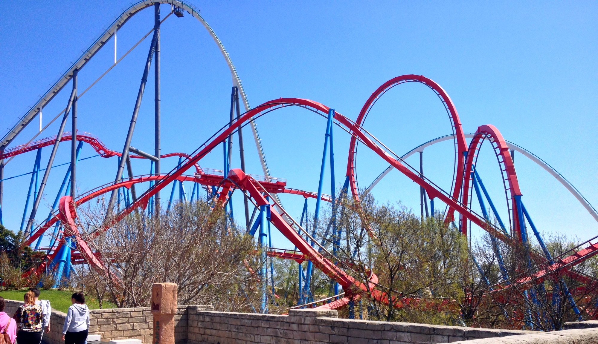 The Dragon Khan rollercoaster in Port Aventura - Salou, Spain