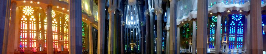 Panorama of the Sagrada Familia - Barcelona, Spain