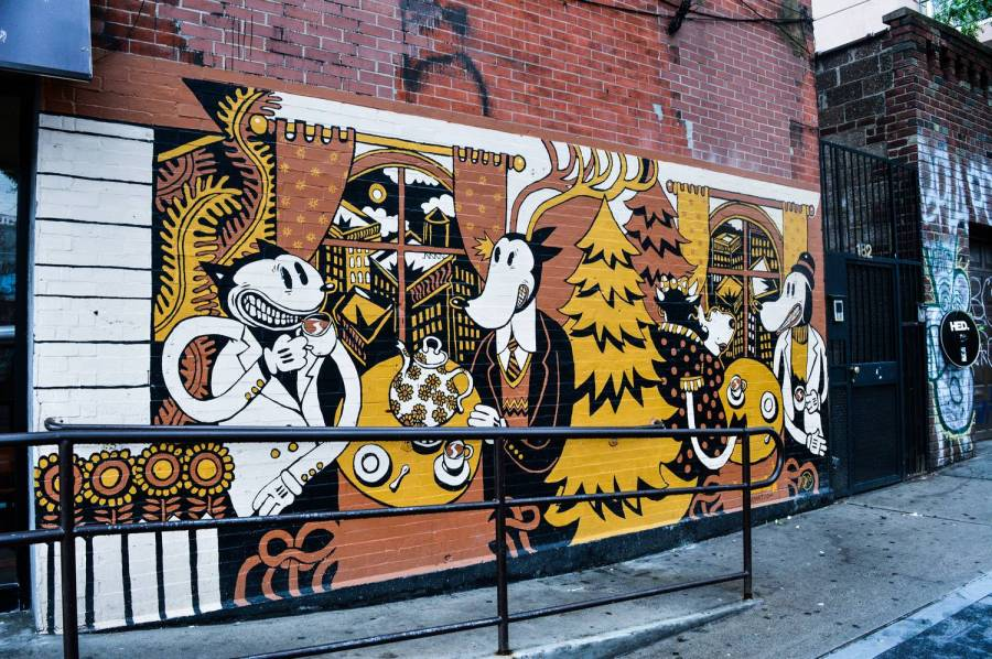 Street art in Greenpoint, Brooklyn - New York, USA
