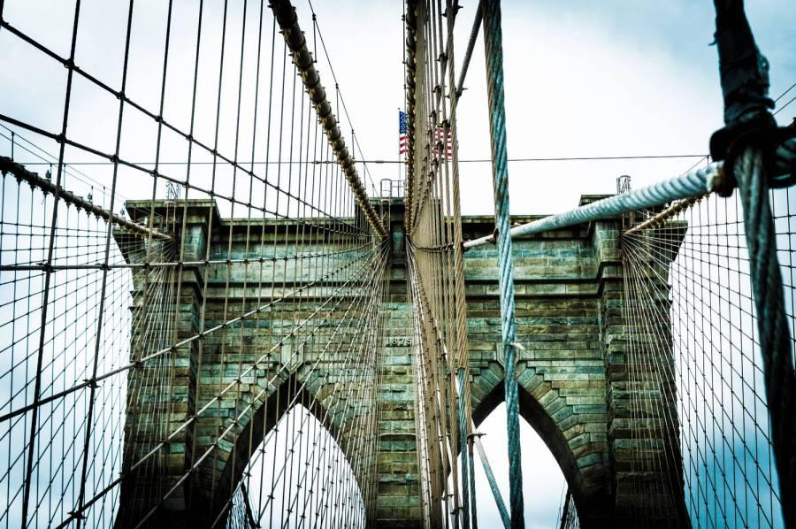Le Brooklyn Bridge - New York, Etats-Unis