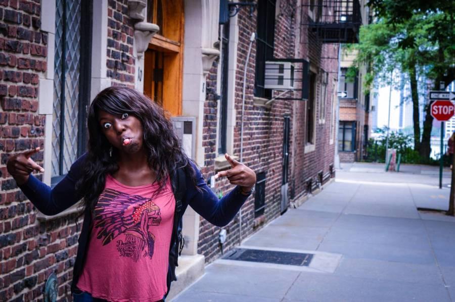Grimaces à Brooklyn Heights - New York, Etats-Unis