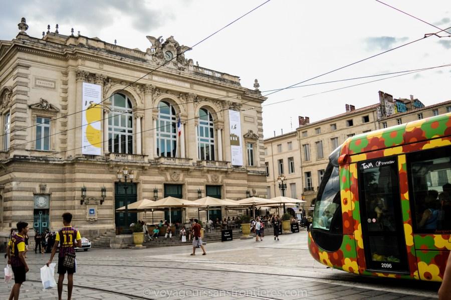 L'Opéra Comédie et le tramway - Montpellier, France