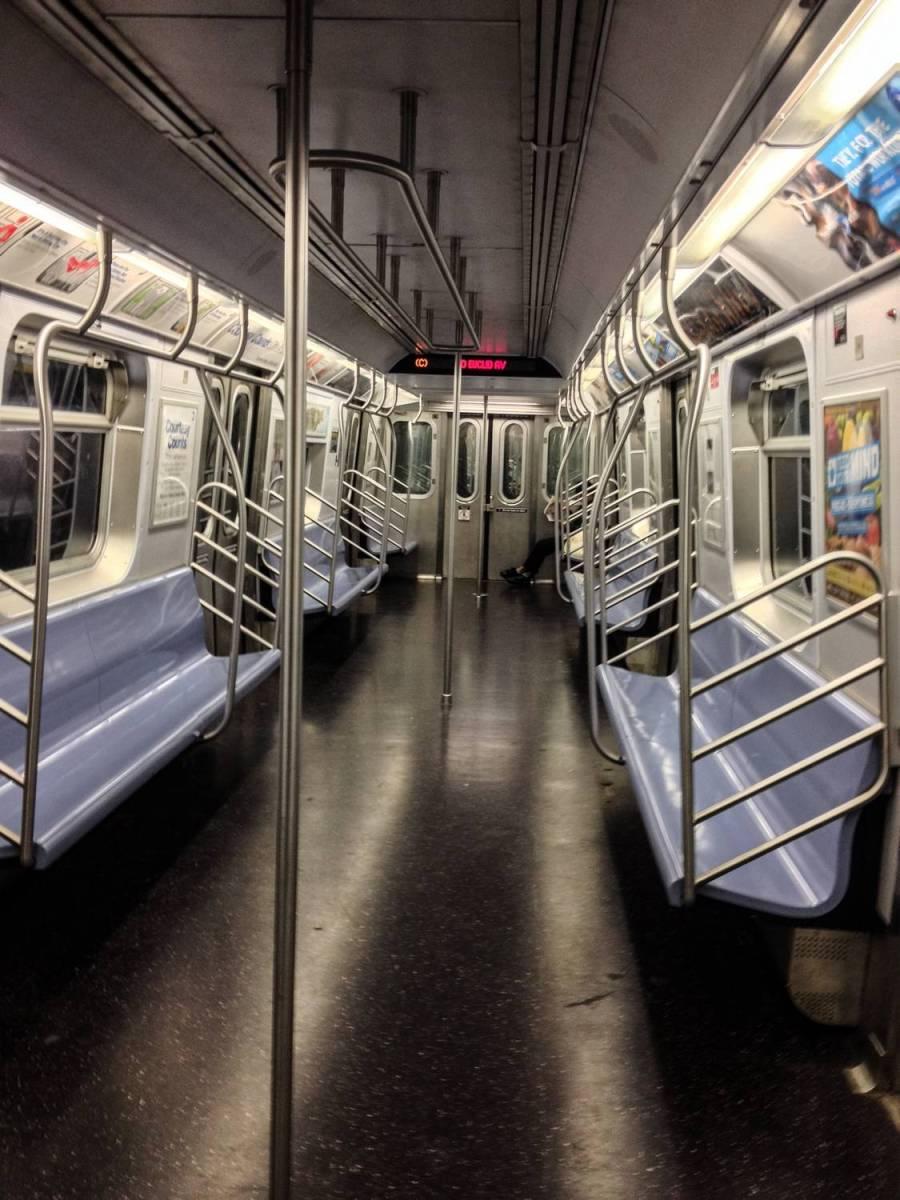 Dans le métro - New York, Etats-Unis