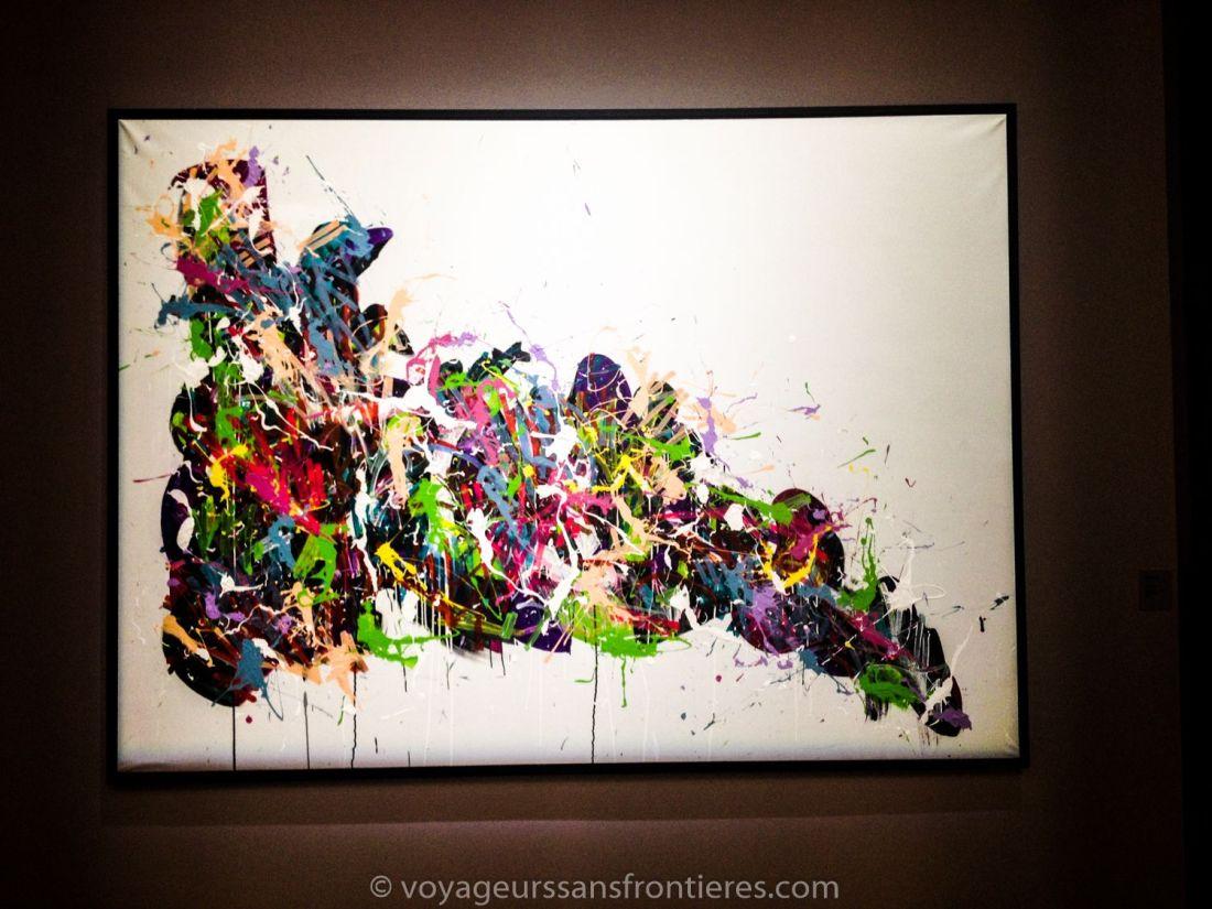 JonOne art piece at the Carré Sainte Anne - Montpellier, France