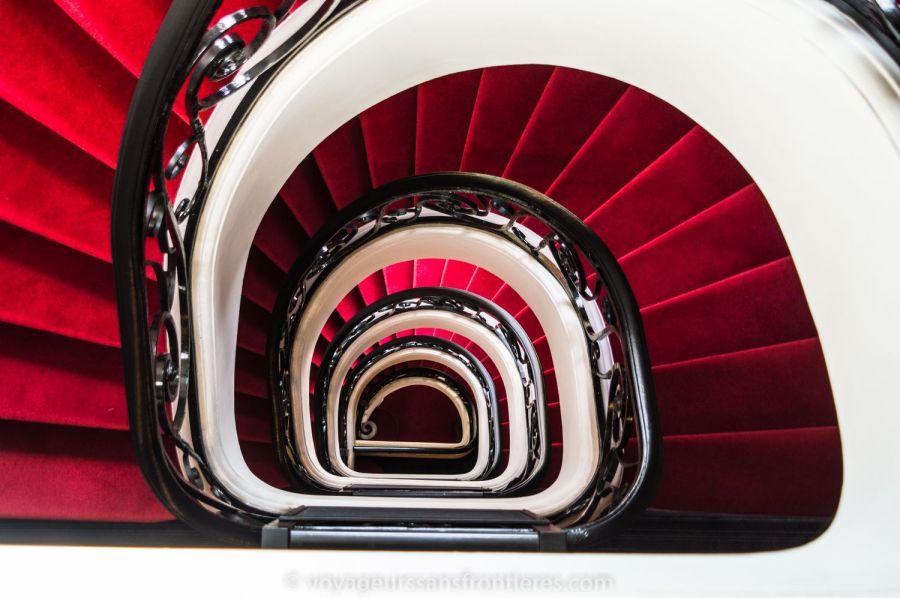 Les escaliers en colimaçon de l'Hôtel Mercure - Lille, France