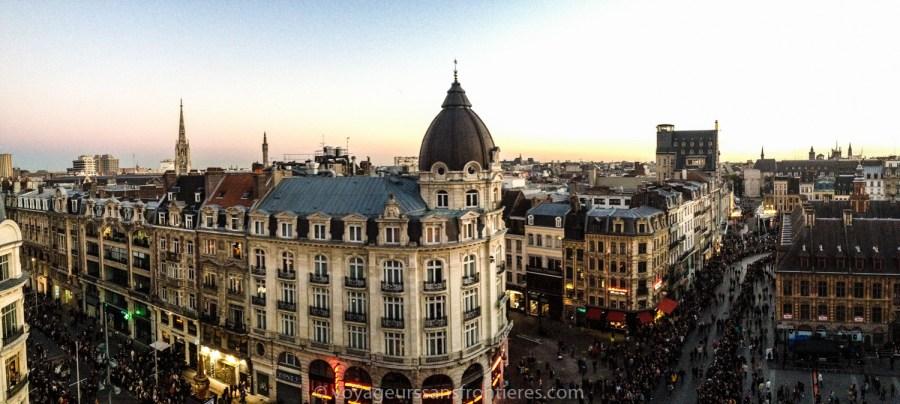 Panorama sur Lille depuis le toit de l'Opéra - Lille, France