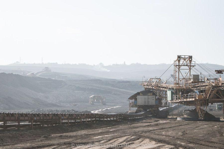 Mine de charbon à Most - Bohème du Nord, République Tchèque