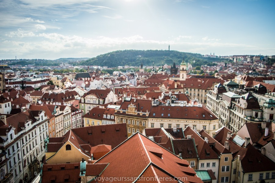 View on the city from the Old Town Hall Tower - Prague, Czech Republic