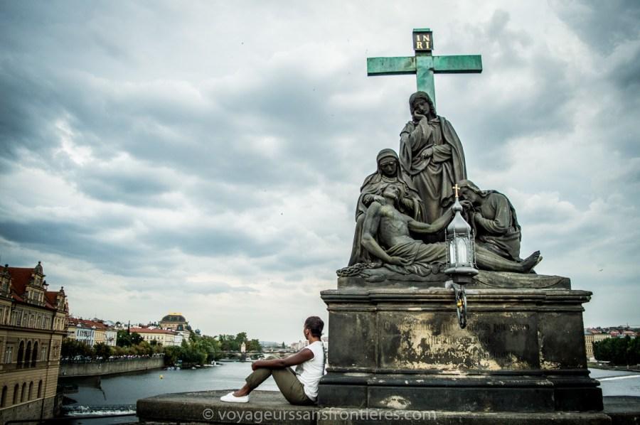 Nath on Charles Bridge - Prague, Czech Republic