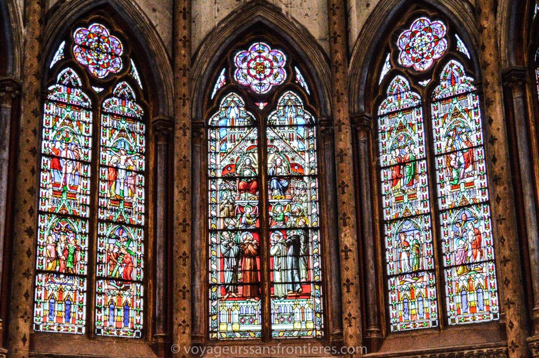 Stained glass at the Saint-Bruno church - Voiron, France