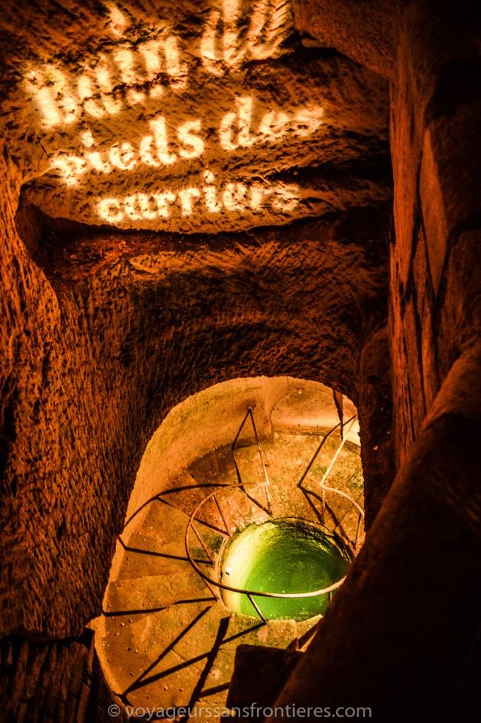 Bain de pieds des carriers - Catacombes de Paris, France