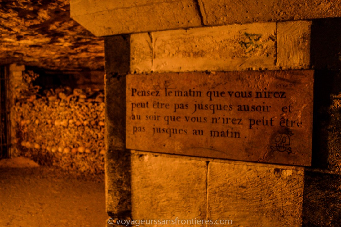 Thought about death - Paris Catacombs, France