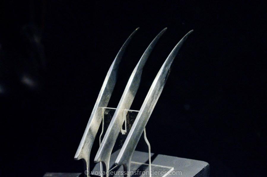 Griffes de Wolverine au Musée Miniature et Cinéma - Lyon, France