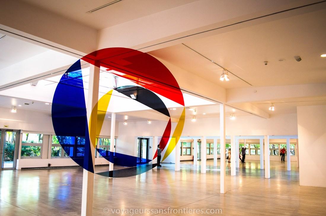 Art piece by Felice Varini at la Villette - Paris, France