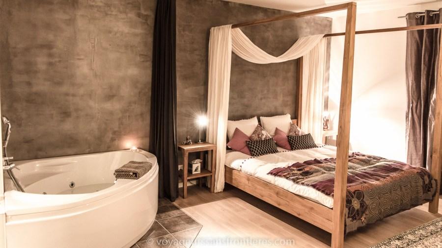 La chambre de la Treehouse - Vallée de Joux, Suisse