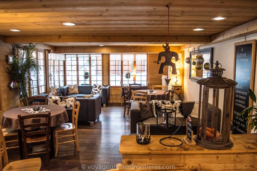 Salon cosy dans l'Hôtel les Lilas - Les Diablerets, Suisse