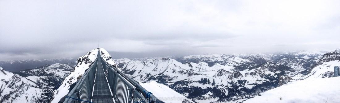 Panorama of the Peak Walk - Glacier 3000, Switzerland