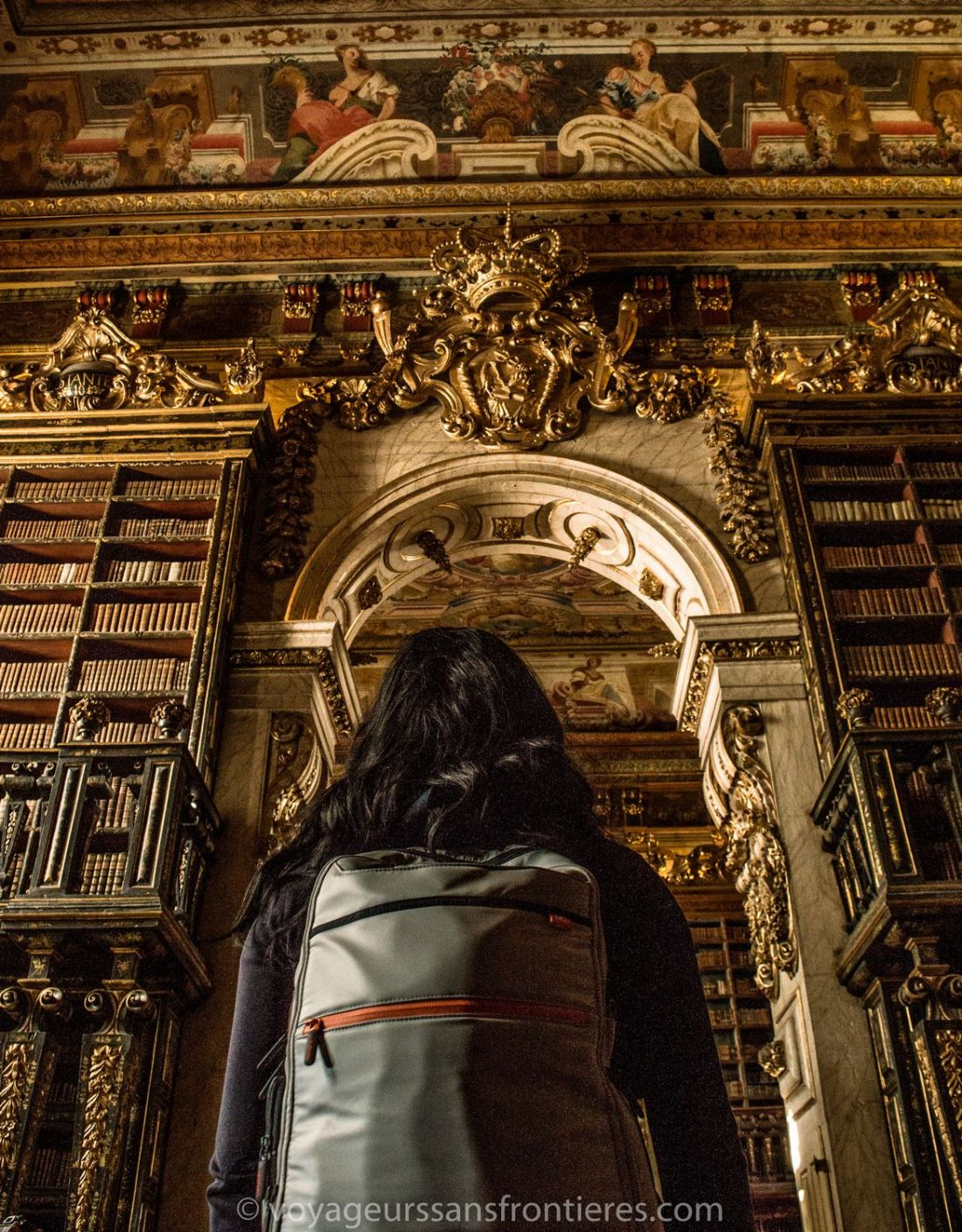 Nath in the Joanina library of the University of Coimbra - Portugal