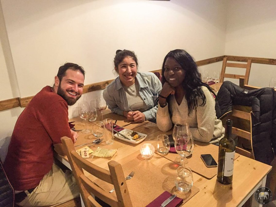 A delicious meal with our friend Sophia - Lisbon, Portugal