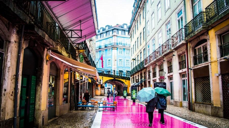 Rua Nova do Carvalho, la rue rose - Lisbonne, Portugal