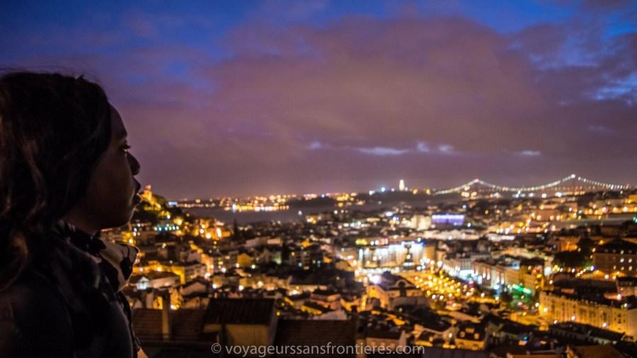Belle vue sur Lisbonne depuis le Miradouro Senhora do Monte - Portugal