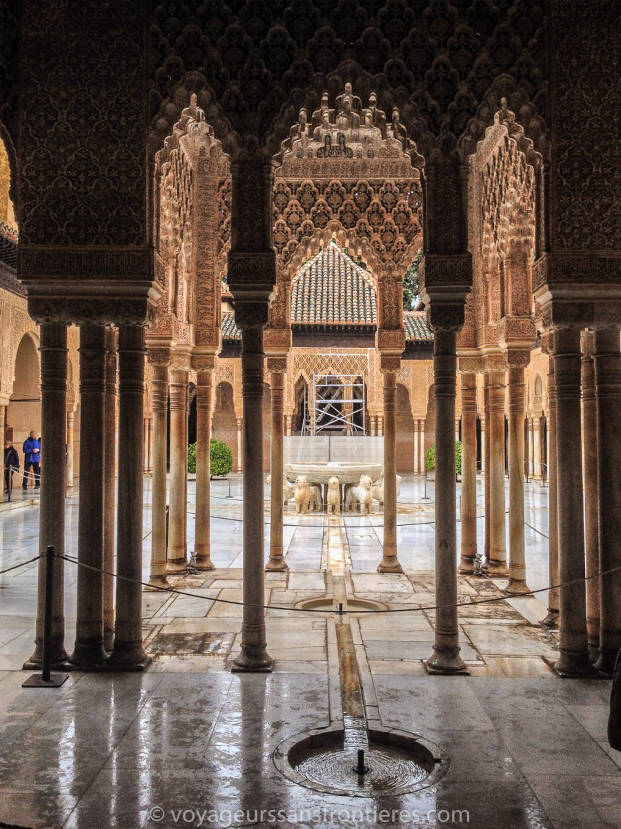 Inside the Nasrid Palaces at the Alhambra - Granada, Spain