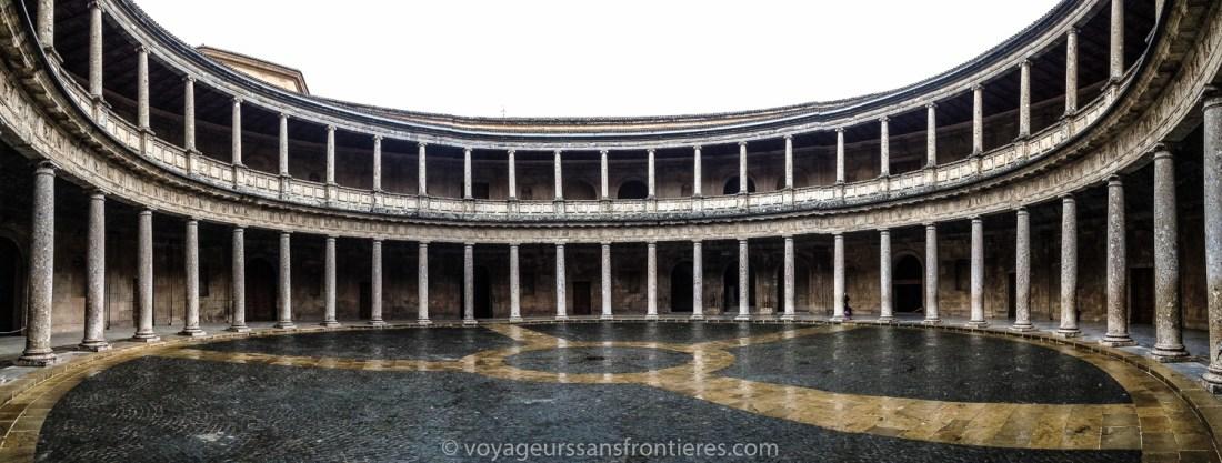Palace of Charles V at the Alhambra - Granada, Spain