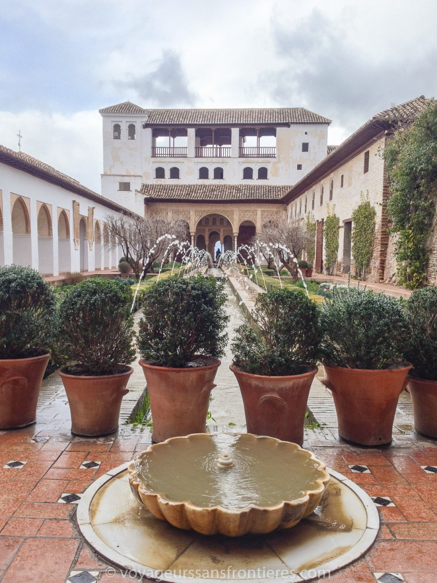 Inside the Generalife at the Alhambra - Granada, Spain